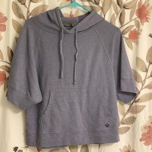 Prana Hooded Short Sleeve Sweatshirt